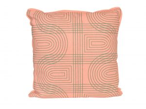 pt Retro grid square peach pink párna